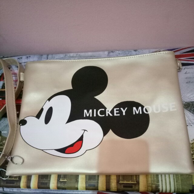 Mickey Gold Sling Bag