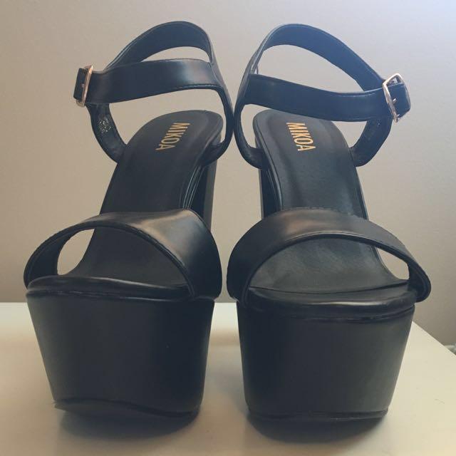 Mikoa Black Block Heels