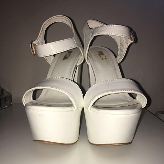 Mikoa White Block Heels