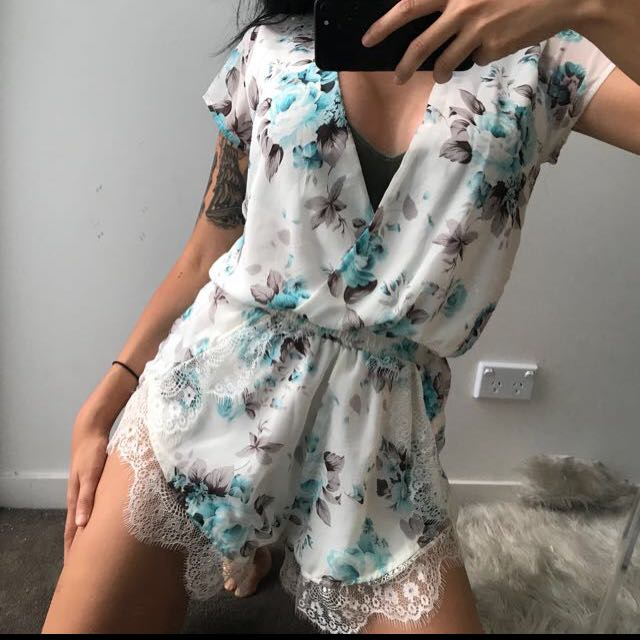 Miss Holly Floral Playsuit