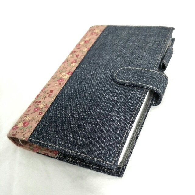 NEW Denim Floral Planner - Agenda, Journal, 6 Ring Bind, Buckle, Travel, Fabric, Weekly, Monthly, Note, Memo, Diary, Undated, Morning Glory, Wallet, Card Holder, Pen Holder