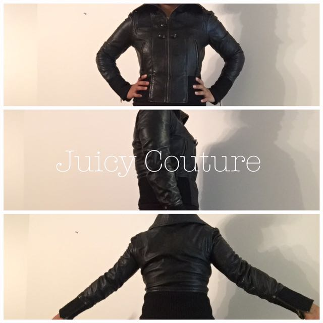 *new price!* Juicy Couture 100% Genuine Leather jacket
