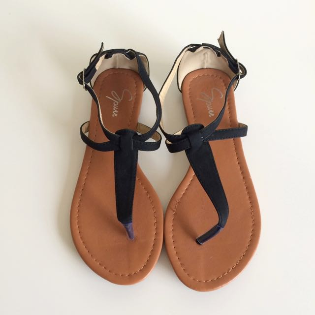 NEW Spurr Black Sandals