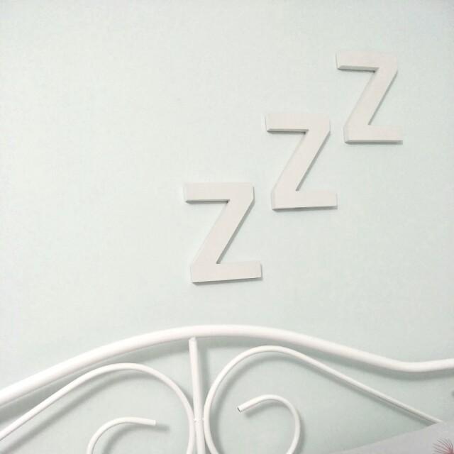 NEW Large Z Wood Letter Blocks - Black, Set of 3, Typo, Sleep, Wall Decor, Bedroom, Quirky, Simple, Minimal, Minimalism