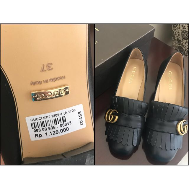 (NEW)Gucci black shoes (MIRROR QUALITY)
