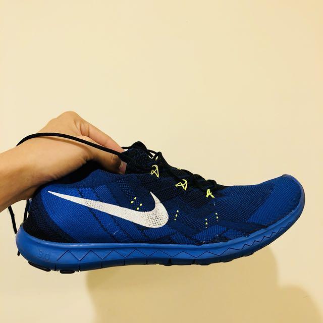 Nike Free flyknit 3.0 藍色