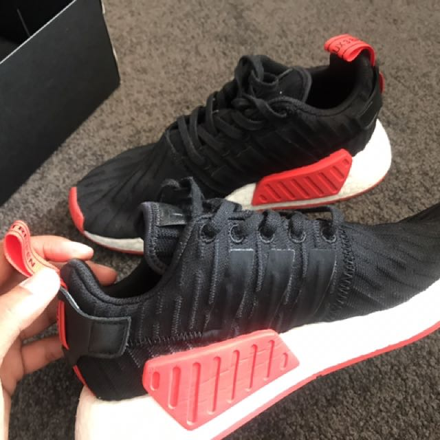 NMD R2 BLACK RED