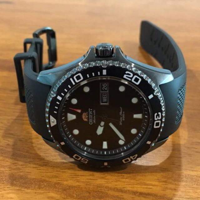 Orient Ray Raven Ii Pvd Diver Watch Men S Fashion Watches On Carousell