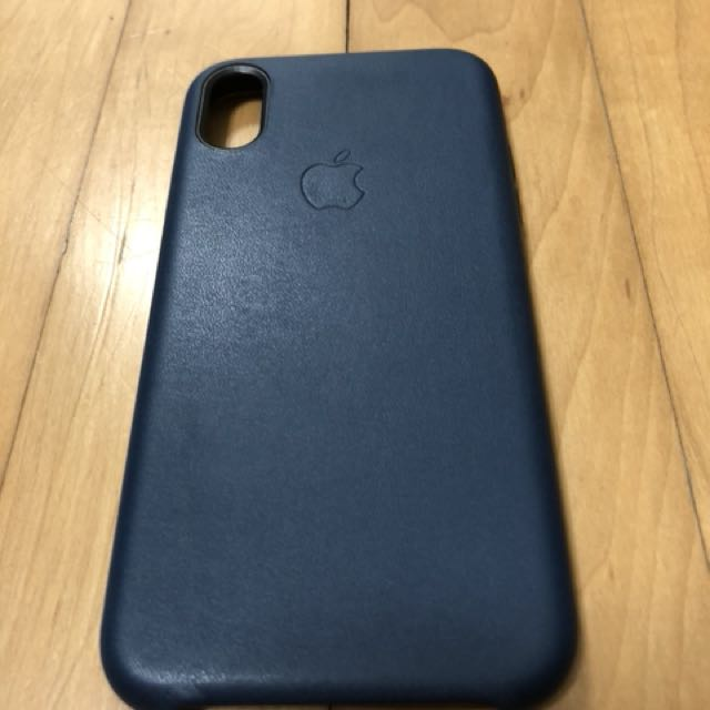 official photos 350a0 04251 Original iPhone X midnight blue leather case
