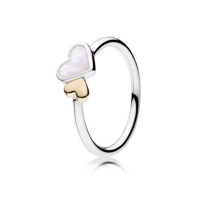 Pandora Luminous Hearts Ring