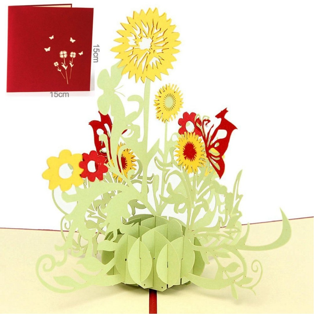 Paper spiritz sunflower pop up card flower christmas pop up birthday paper spiritz sunflower pop up card flower christmas pop up birthday card 3d get well thank you anniversary card with envelope for daughter wife kids izmirmasajfo