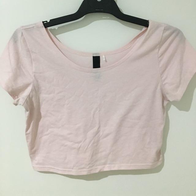 Pink Croptop - size 8/10