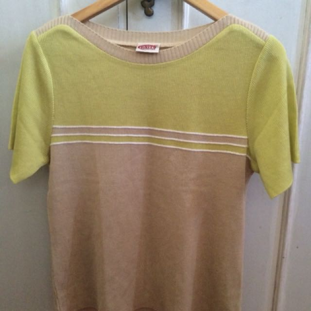 Preloved Knitted Pastel Top