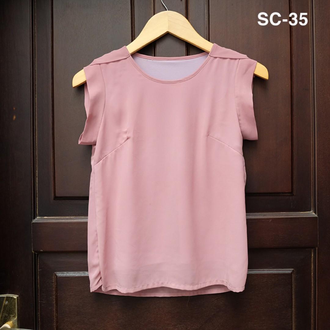 Preloved Pink Top / Blouse / Atasan / Baju