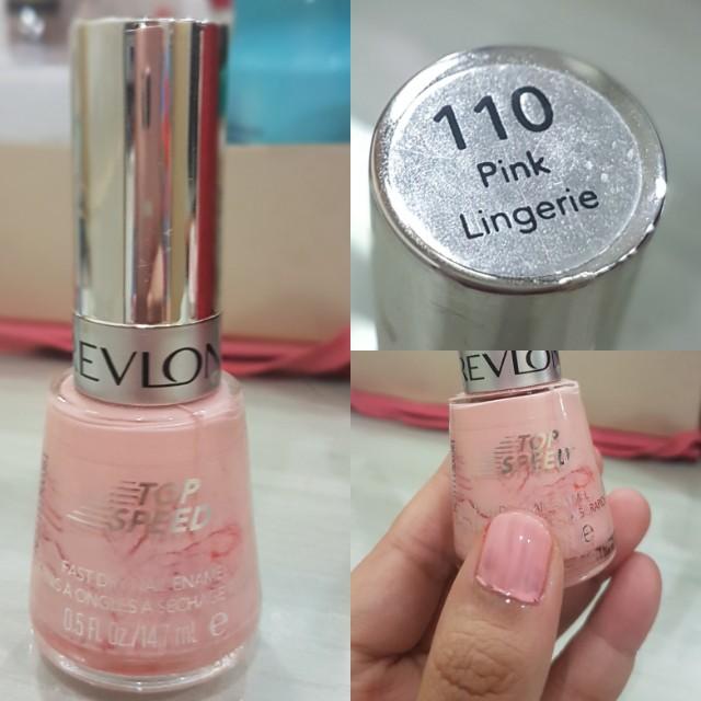 Preloved revlon top speed nail polish in pink lingerie