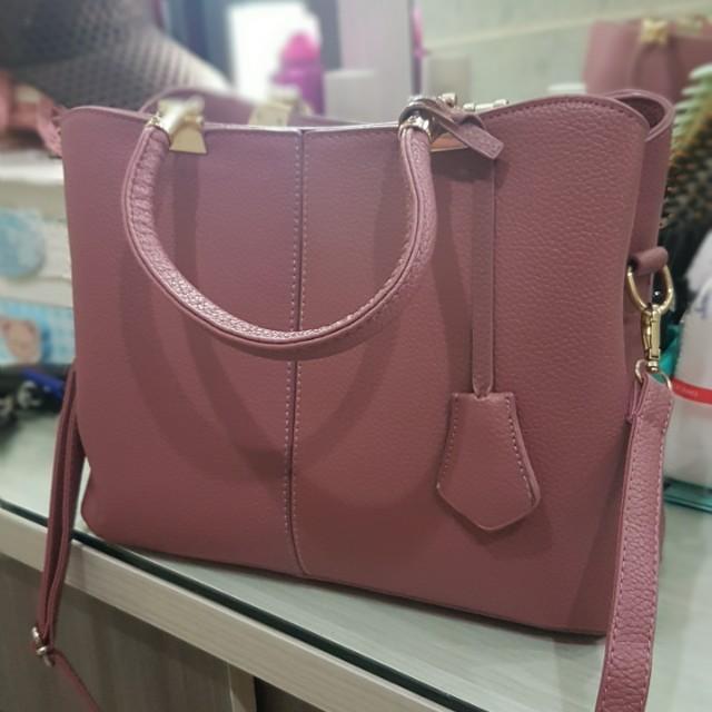 Purple bag LV look alike good leather