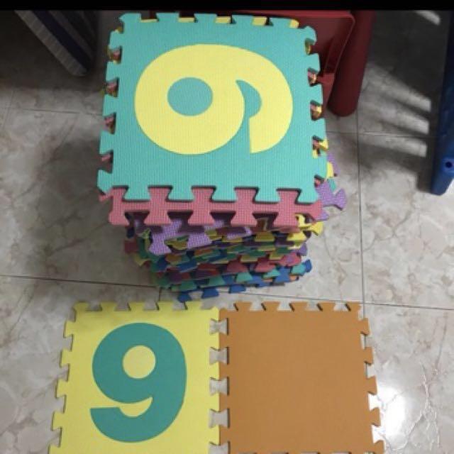 Puzzle Mat playmat alphabet shapes numbers 60pcs