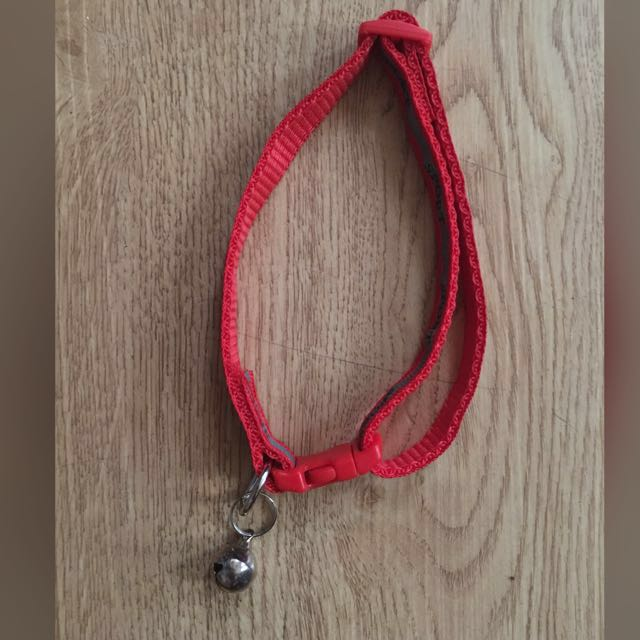 Red Pet Collar with Bell