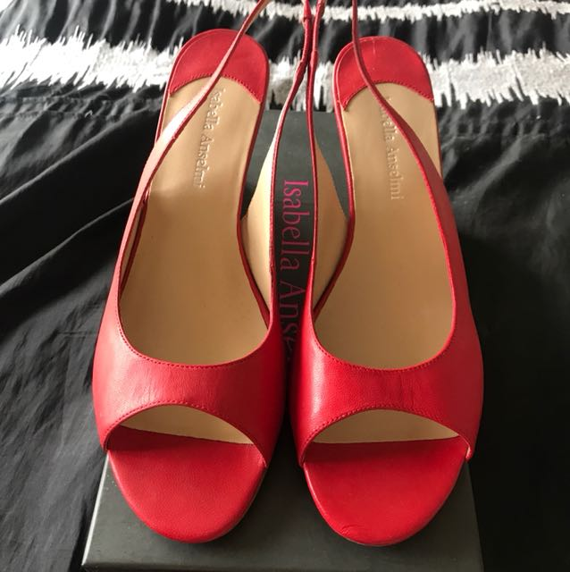 Red woman's wedges size 39