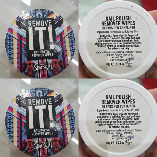 Remove it nail polish remover pads