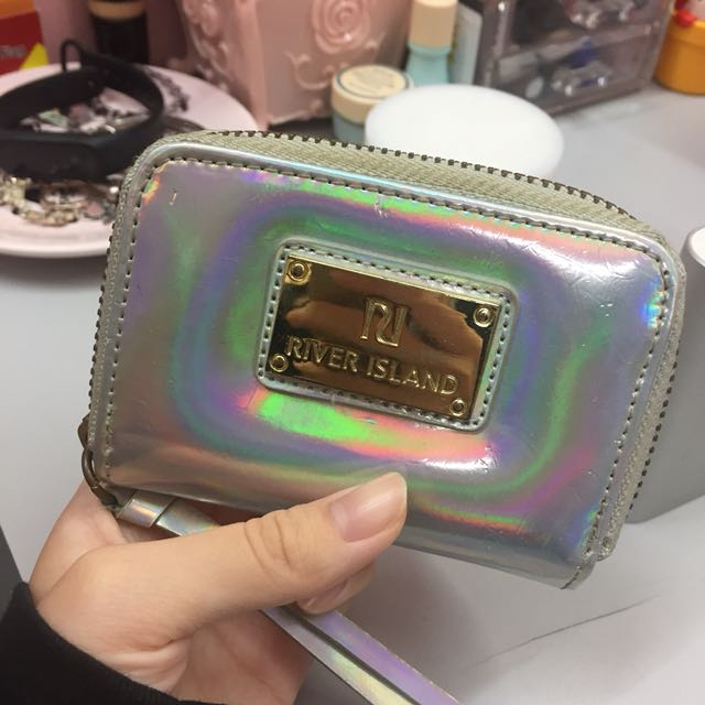 River Island Holographic Wallet