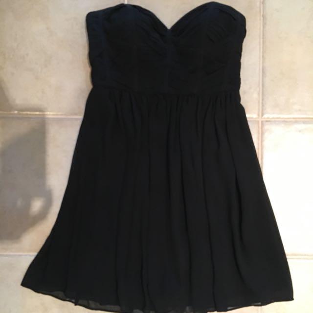 Seduce Black chiffon dress. Size 10. WORN ONCE.