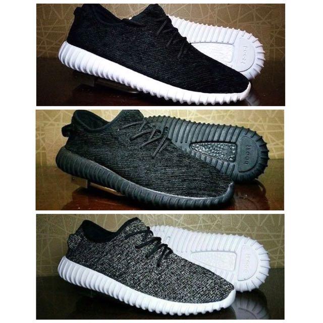 Sepatu Adidas Yeezy Boost 350 High Quality Warna Hitam Putih Abu