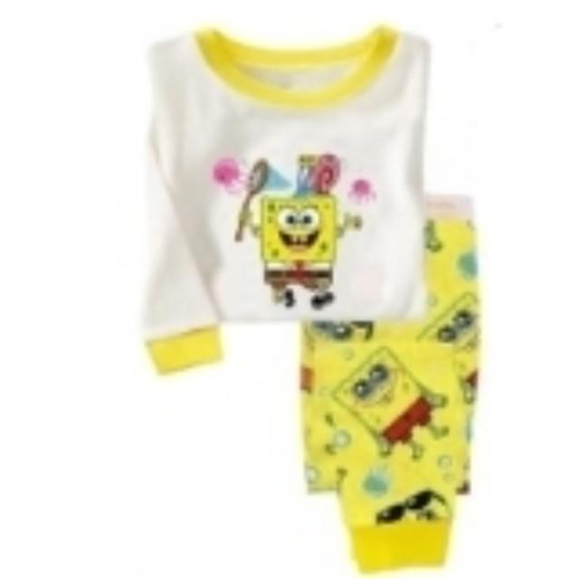spongebob pyjamas girl boy toddler babies kids babies apparel on