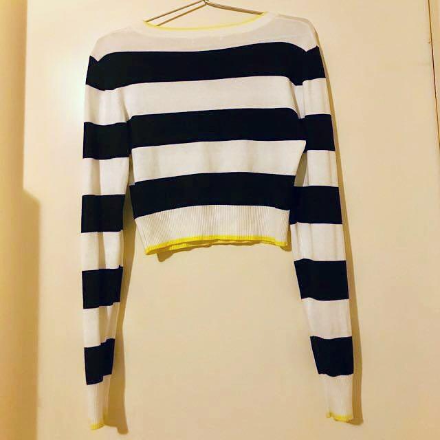 Stretch Rib Knit Crop Top   Size S