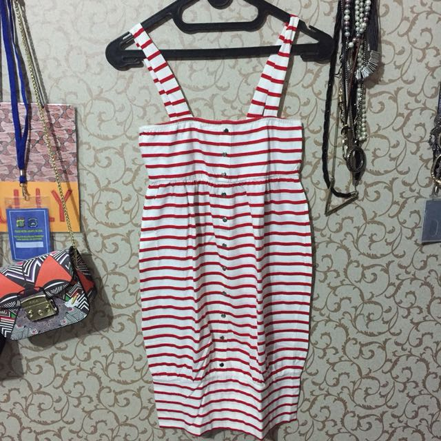 stripes red&white dress