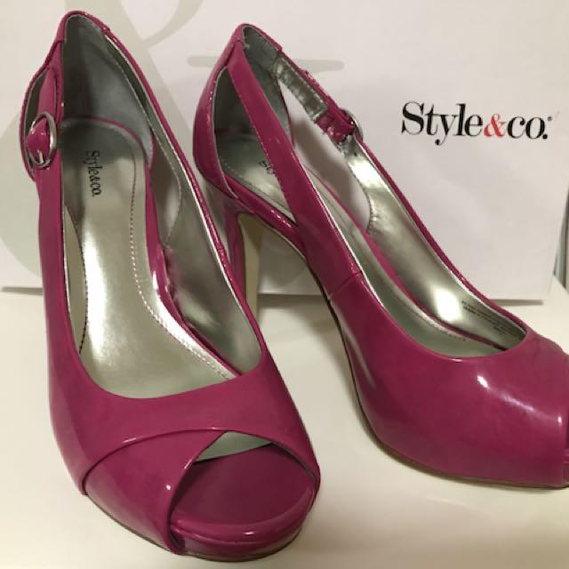 Style & Co. High Heel Sandals (Fuchsia Pink)