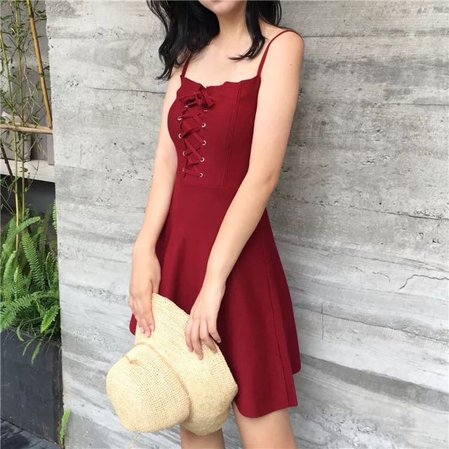Summer red dress