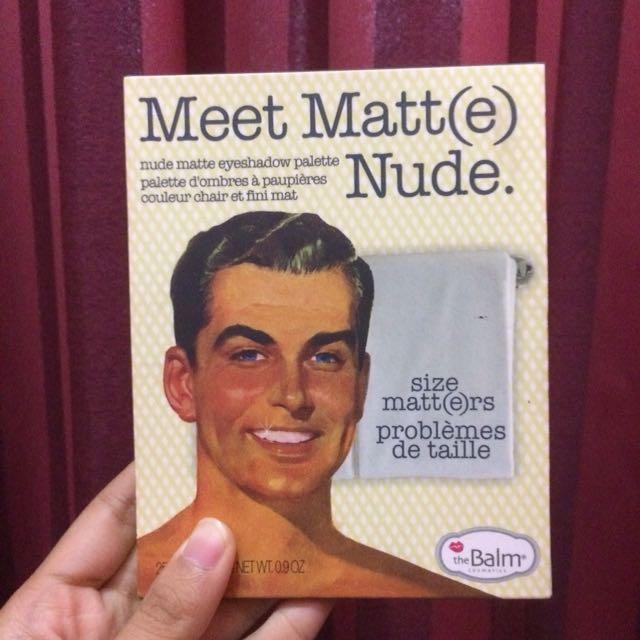 The Balm: Meet Matt(e) Nude