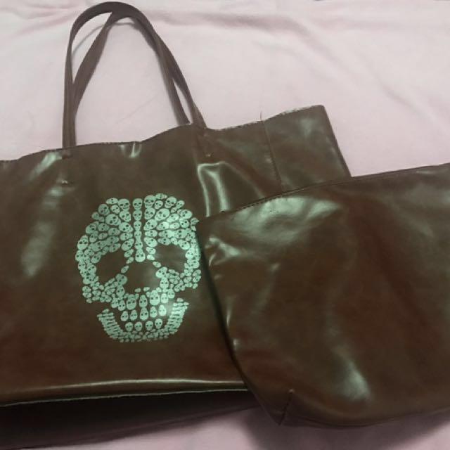 Tote Bag Tengkorak No Brand (Jual Rugi)