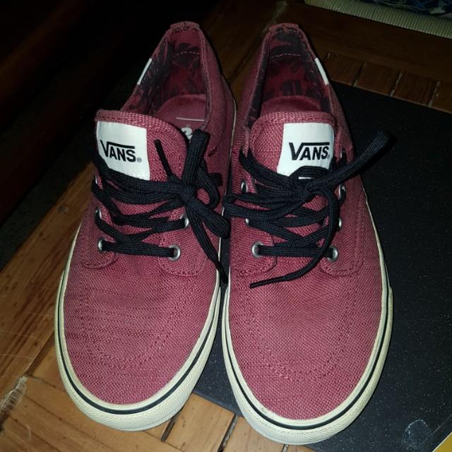 Vans Shoes! Maroon colour (unisex), Men