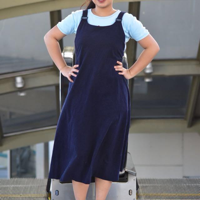 Velvet Jumper Dress