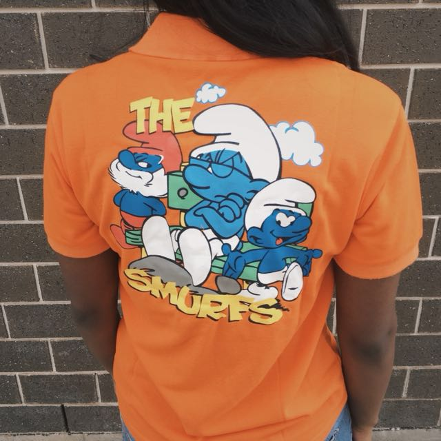 Vintage Smurfs Embroidered Polo