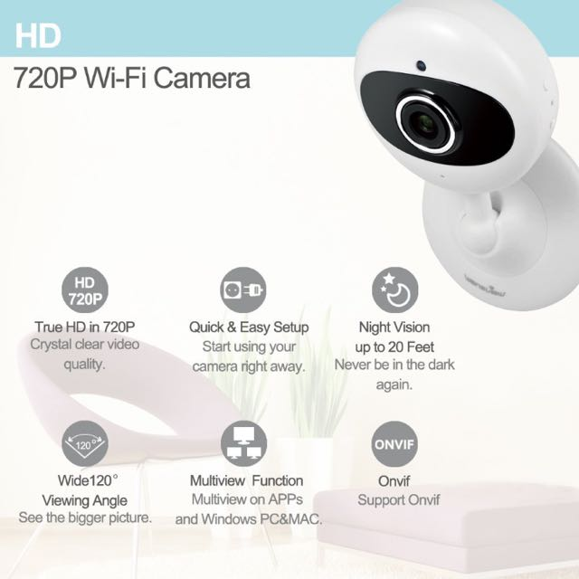 Wansview 1080P Wireless Security Camera, WiFi Home IP Camera