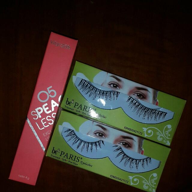 wardah lip cream matte+eyelashes