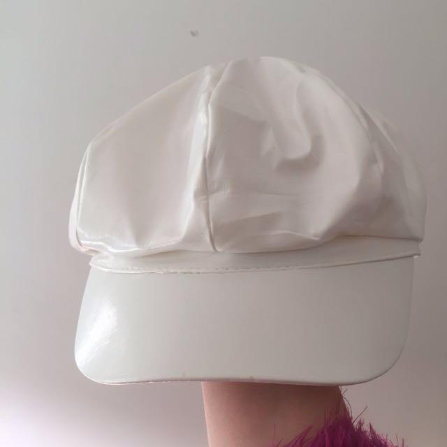 White Baker Boy Hat