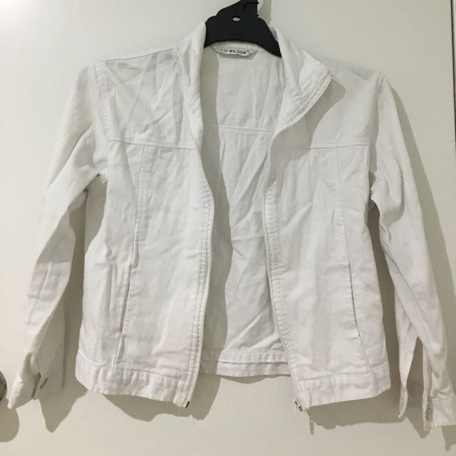 White Denim Jacket - Size 6/8