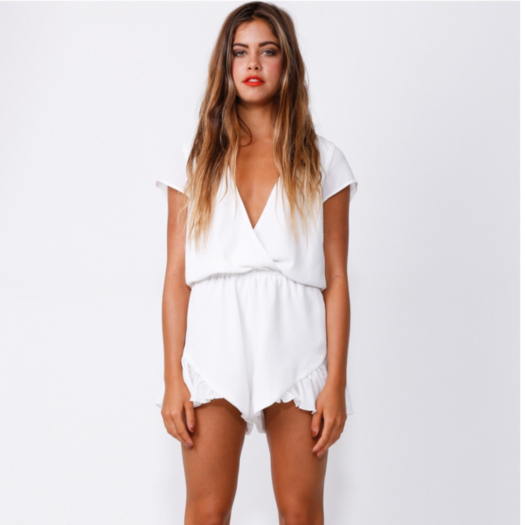 White Jumpsuit Peppermayo