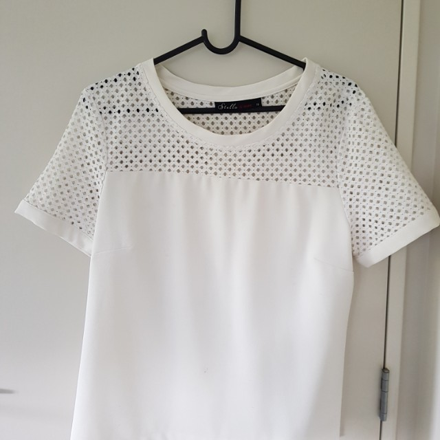 White mesh top