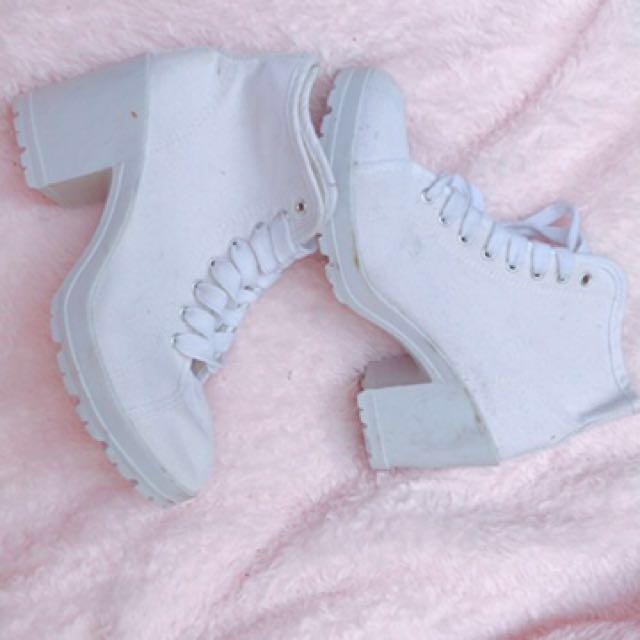 White Sneaker Heels
