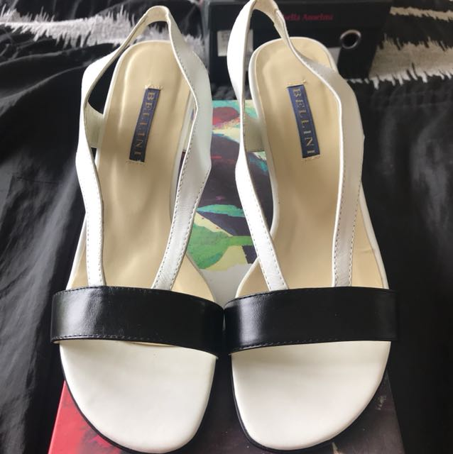 Woman's black & white summer heel size 39