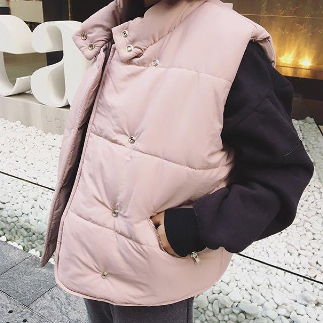 Women puffy jacket vest
