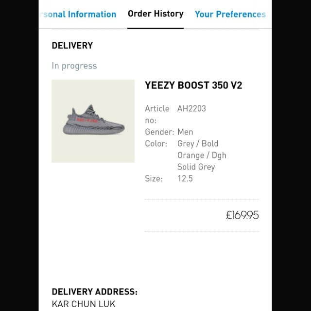 9cf662405ce UK 12.5   US 13 Yeezy Boost 350 V2 Beluga 2.0