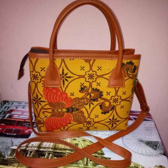 Yellow Batik Webe Bag