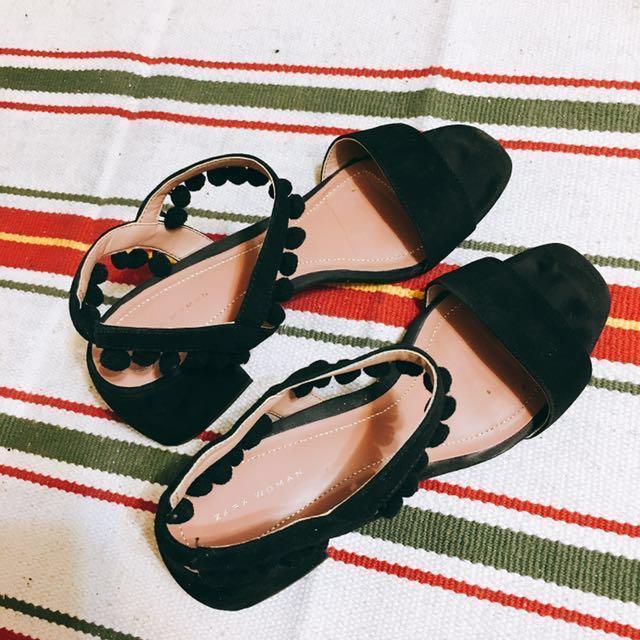 Zara 粗跟涼鞋 6cm #幫你省運費