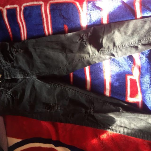 Zara ripped denim size 10